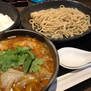 爆裂牛すじつけ麺+追い飯セット(麺匠 乃が実)