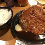 ハンバーグと海老フライ(洋食の店 もなみ )