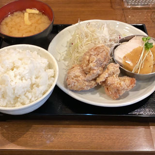 むし鶏と鶏から揚げ定食(南蛮食堂 )