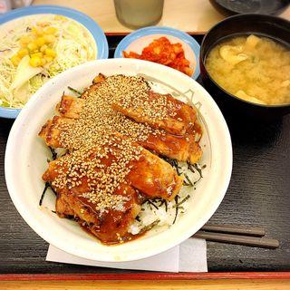 味噌漬けトンテキ丼 野菜セット
