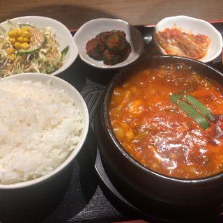 純豆腐チゲ定食