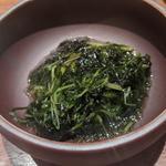 オカヒジキ・モロヘイヤ・岩海苔の酢の物