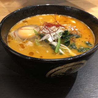 坦々そば+かき揚げ(ウエスト 平尾店)