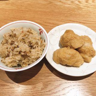 かしわごはん&いなり寿司(うどん平)
