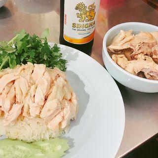 カオマンガイ 骨付きスープ(ガイトーンTokyo)
