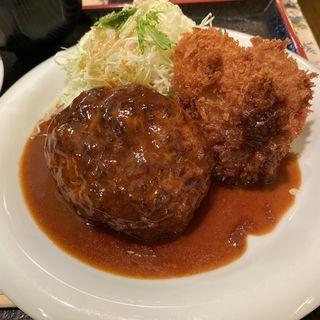 ハンバーグ&ヘレカツセット(グリル ロン 阪急三番街店)