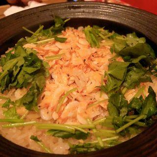 桜えびの土鍋御飯(それがし 恵比寿店)