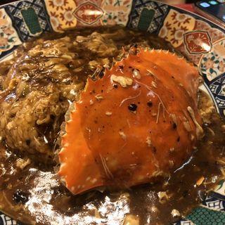 渡り蟹の餡掛け炒飯(中華料理 龍鳳酒家)