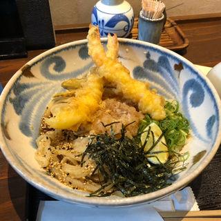 海老天ぶっかけ(うどん屋麺之介 大阪店 )