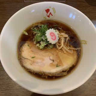 濃口醤油らーめん(小麦と大豆 自家製麺 麺や ひなた)