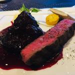 中山牛シンシンのステーキ&頬肉のワイン煮