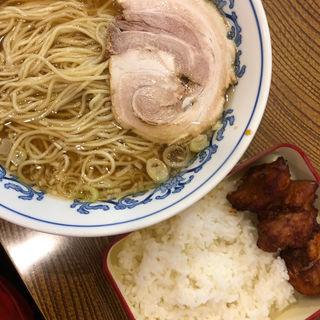Aセット(醤油ラーメン+唐揚げ弁当)