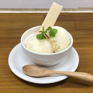 梨バニラヨーグルトソルベ(竹末食堂 )