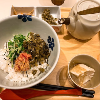 炙り明太子と高菜