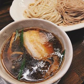 2種盛り濃口しょうゆつけ麺(麺や一芯)