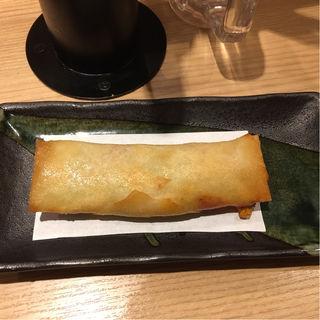 クラムチャウダー春巻(うどん酒場七右衛門 新伝馬町店)