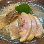 熊野地鶏と金華さばの冷し(らーめん 彩哲 ~isato~)