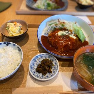 チーズハンバーグ(お食事処 asatte)