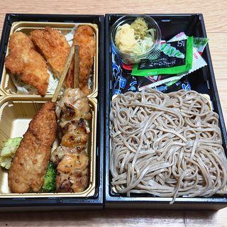 国産チキンカツと麺・にぎり御膳(築地銀しゃり 雪谷本店 )