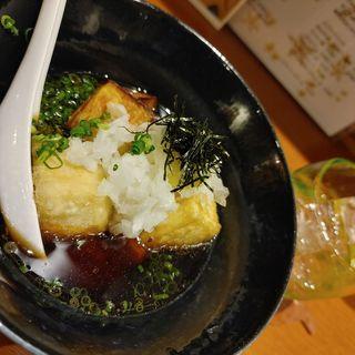 島豆腐と米ナスの揚げ出し豆腐(Aticoco)