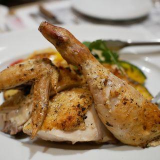 国産鶏の回転ロースト 香草風味 リンゴソース