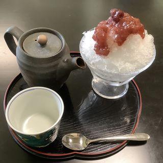 手作り天然イチゴシロップカキ氷(うらら )