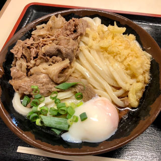 温玉肉ぶっかけうどん(中)(手打十段 うどんバカ一代)