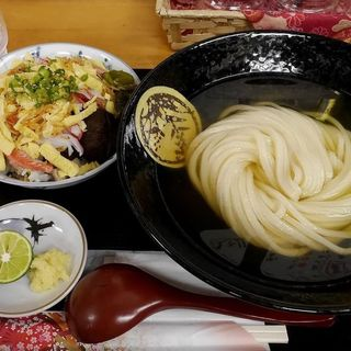 ひやかけと五目ちらし寿司のセット