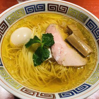 中華そば白醤油+味玉(らーめん竹馬)