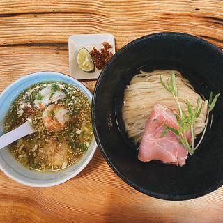 丹波地鶏と海老の塩つけ麺