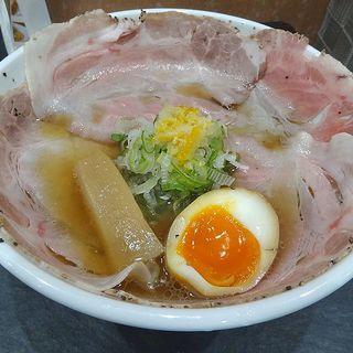 柚子醤油らーめん(スペシャルトッピング)(醤油らーめん ピース 本町店)