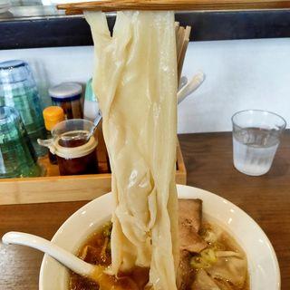 (限定)超巾広麺 ひもかわラーメン(自家製麺 麺屋 翔)