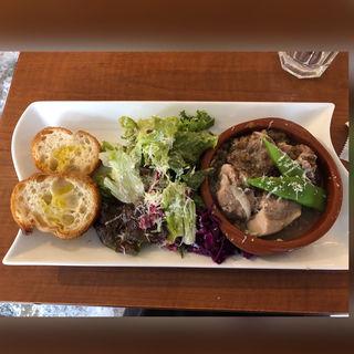 お肉ランチ(前菜、スープ)