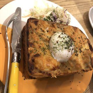 トリュフ香るクロックマダムトースト(俺のBakery & Cafe 東銀座歌舞伎座前)