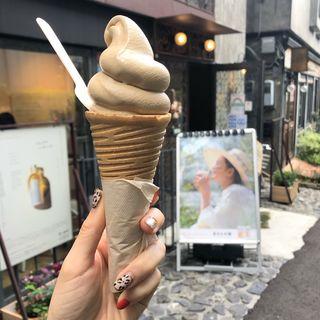 モカ米ぬかソフトクリーム