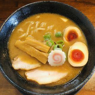 濃い節醤油らーめん~米白湯~(秋の限定)(麺処 ほんだ)