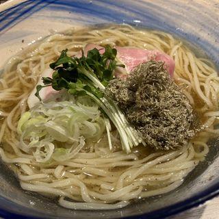 冷やし緑茶 中華そば(YAMACHAN)