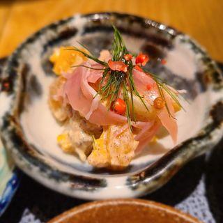 柿と生ハムのポテトサラダ(酒 秀治郎)