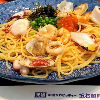 海の幸のよくばりスパゲッティー昆布だし醤油風味(洋麺屋五右衛門 港北店)