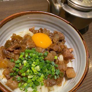 肉うどん(おてもやん食堂 中洲 人形小路)