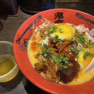 カラシビTKG冷やし麺(カラシビ味噌らー麺 鬼金棒 (キカンボウ))