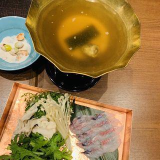 鰻のしゃぶしゃぶ(京都 鰻 まえはら 虎ノ門ヒルズ店)