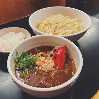 牛すじと野菜のカレーつけそば(麺処 にしむら)