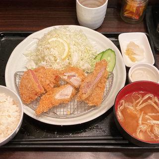 ミックス定食(とんかつ 天山 )