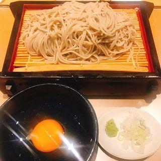 もり蕎麦・生卵(蕎麦酒処 空庵)