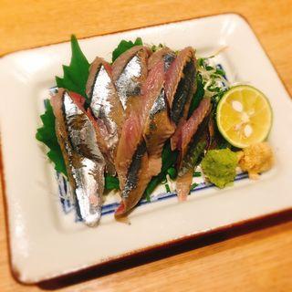秋刀魚刺し(蕎麦酒処 空庵)