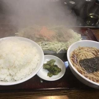 牛スタミナ+半ラーメン(千徳 (セントク))