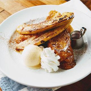 焼きバナナのフレンチトースト