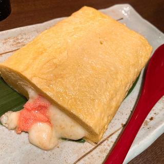 だし巻き玉子 明太チーズ(怪獣酒場)