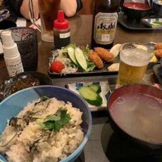 かき飯&カキフライセット(飛梅 仙台駅前店 )